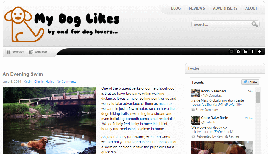 MyDogLikes as it appeared in June of 2014. Hard to believe how far we have come!