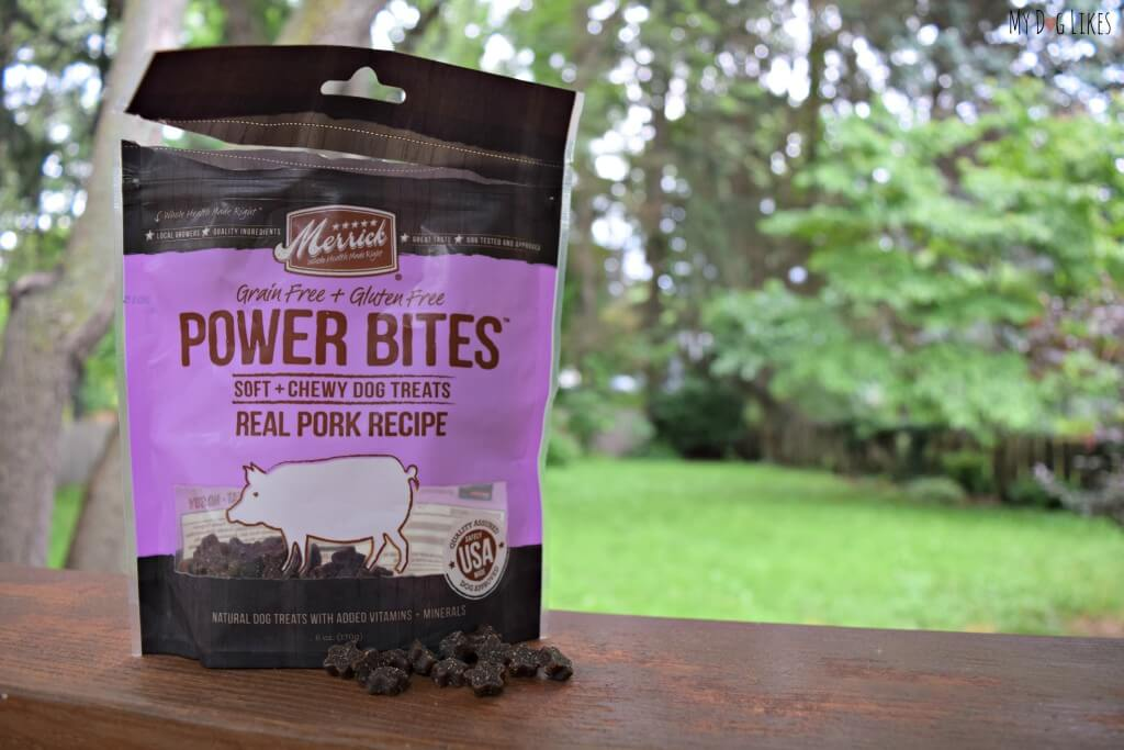 Merrick Power Bites have become one of our favorite treats for dog training classes. These small, low calorie treats are perfect for repeated reinforcement.