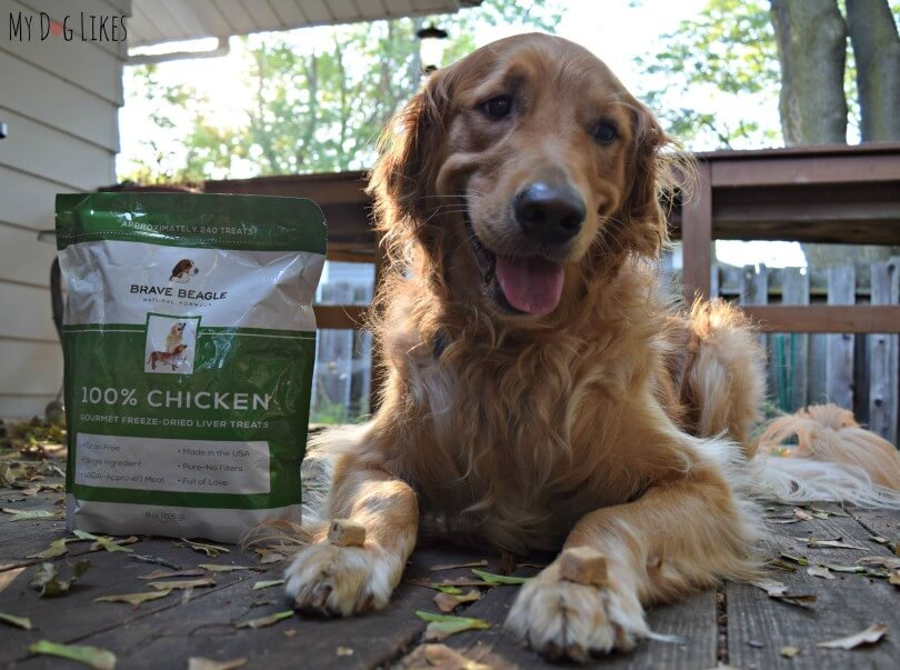 MyDogLikes reviews Brave Beagle's Chicken Liver Dog Treats