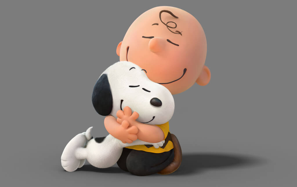 Charley Brown and Snoopy Hugging