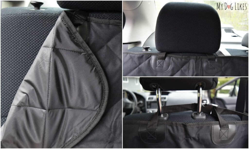 Adjustable straps and buckles make this seat cover a breeze to install.