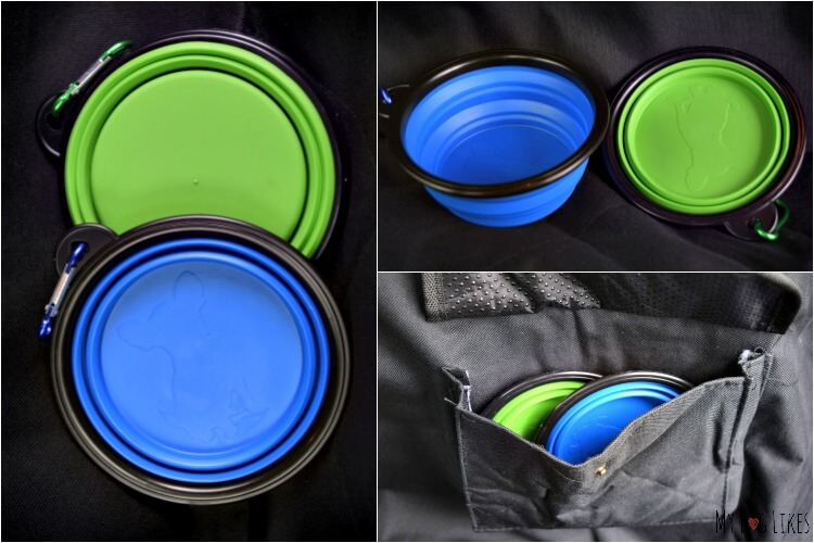 Travelingpaws has even thrown in 2 Collapsible Bowls with each seat cover!