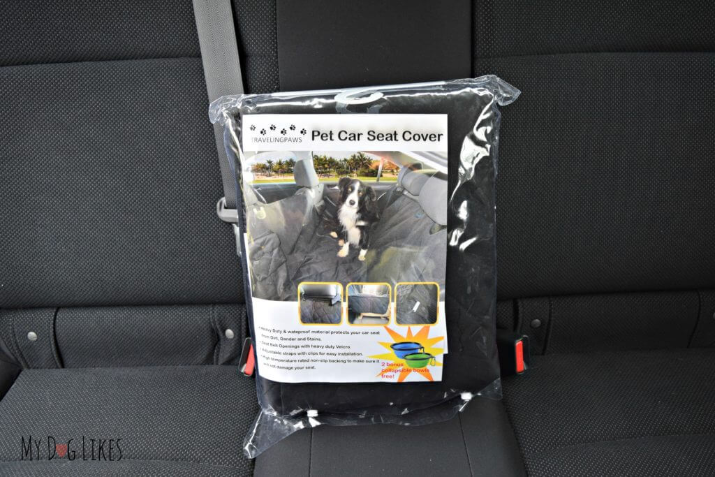 MyDogLikes reviews the Travelingpaws Pet Car Seat Cover