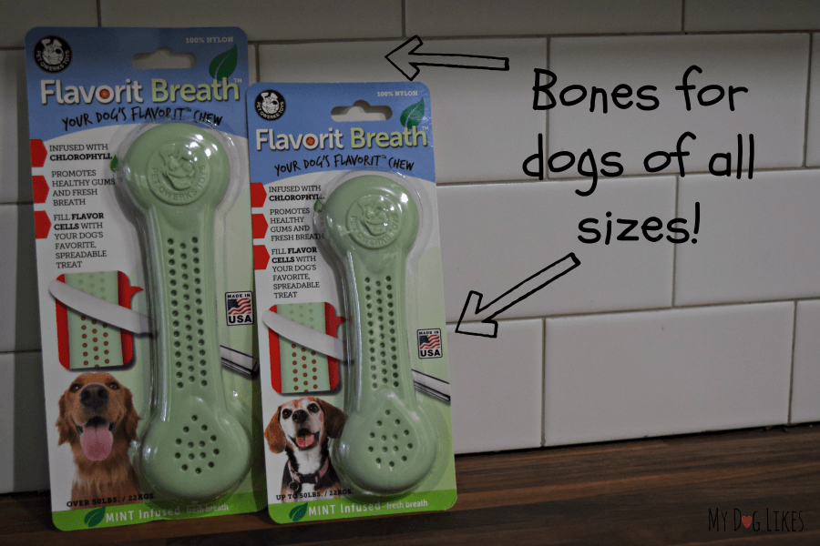 Flavorit Bones come in multiple sizes for all size dogs