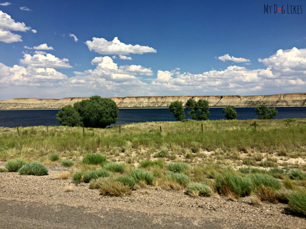 We were surprised to stumble upon the gorgeous Fontenelle Reservoir in our drive through Wyoming