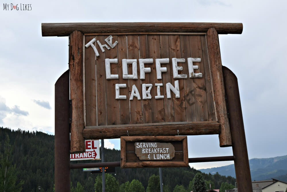 We enjoyed a great breakfast at the Coffee Cabin in Alpine, Wyoming