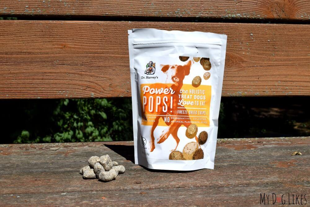 Power Pops Freeze Dried Tripe - Our latest Dr. Harvey's Dog Treats Review