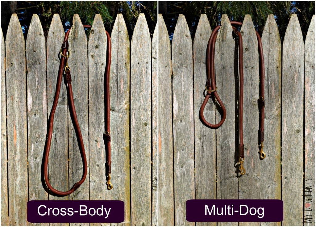 The HUND Multi-Functional dog leash can also be setup as a cross-body or multi-dog lead!
