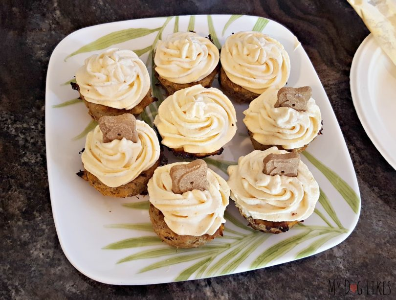 Treat your dog to something special with this simple turkey cranberry pupcakes recipe!