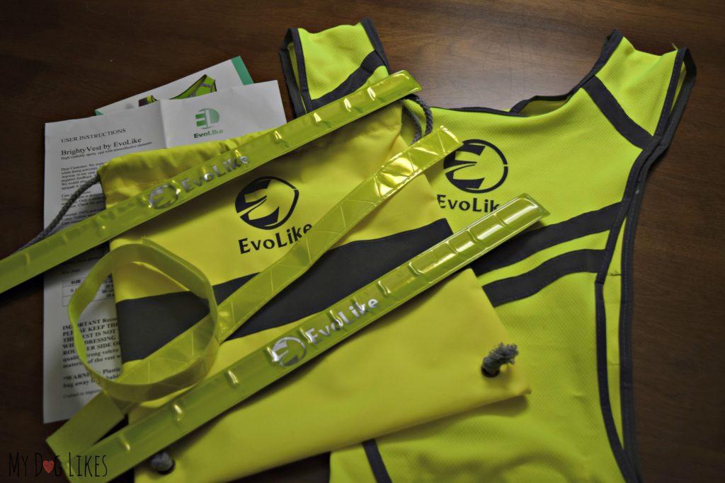 Evolike Reflective Gear Set - Vest, bag, and armbands