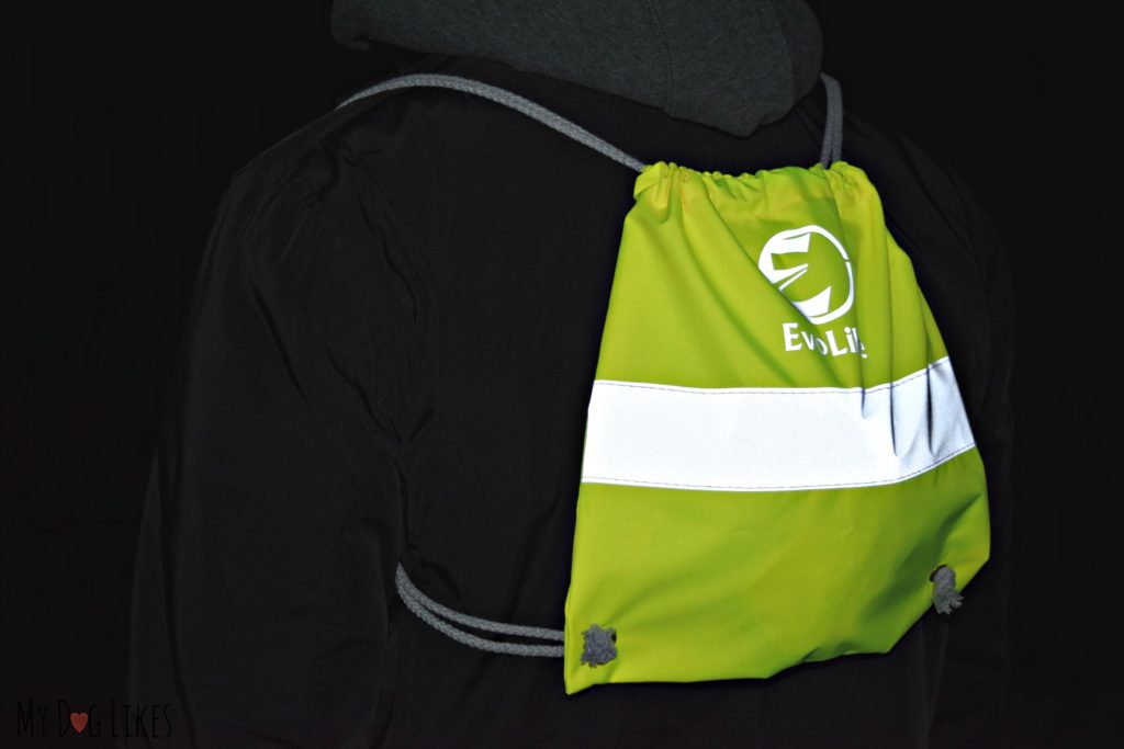 Staying seen with a reflective backpack from Evolike