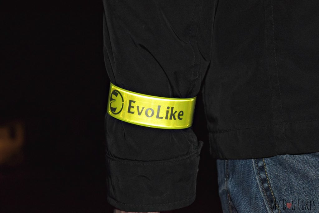 Testing out the reflective armband on a night time walk