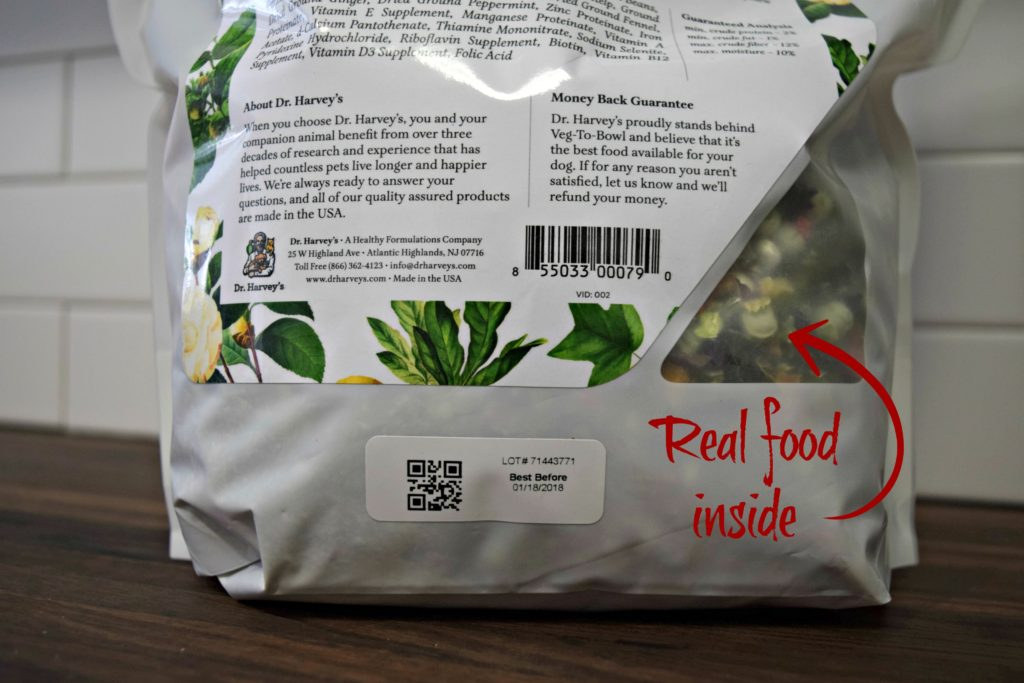 Transparent panel in the bag of the bag shows the real food inside!