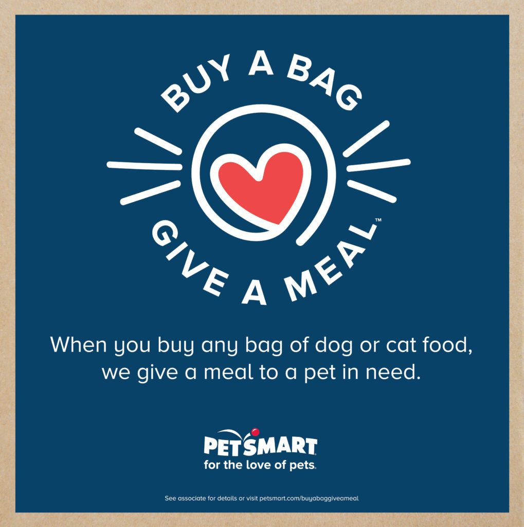 PetSmart's Buy a Bag, Give a Meal Program