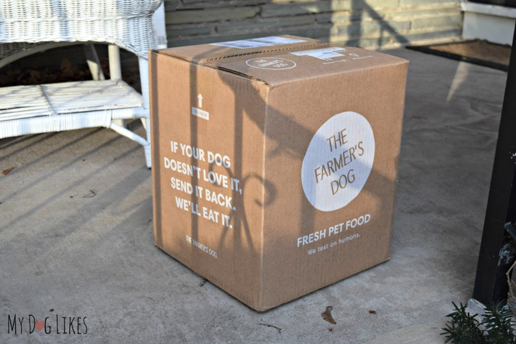 Dog food delivery service from The Farmer's Dog