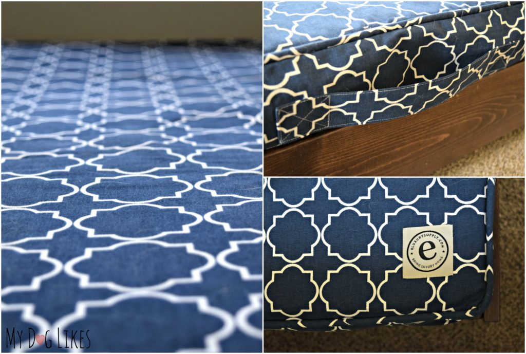 These dog bed duvets are available in tons of patterns and are easy to remove for washing.