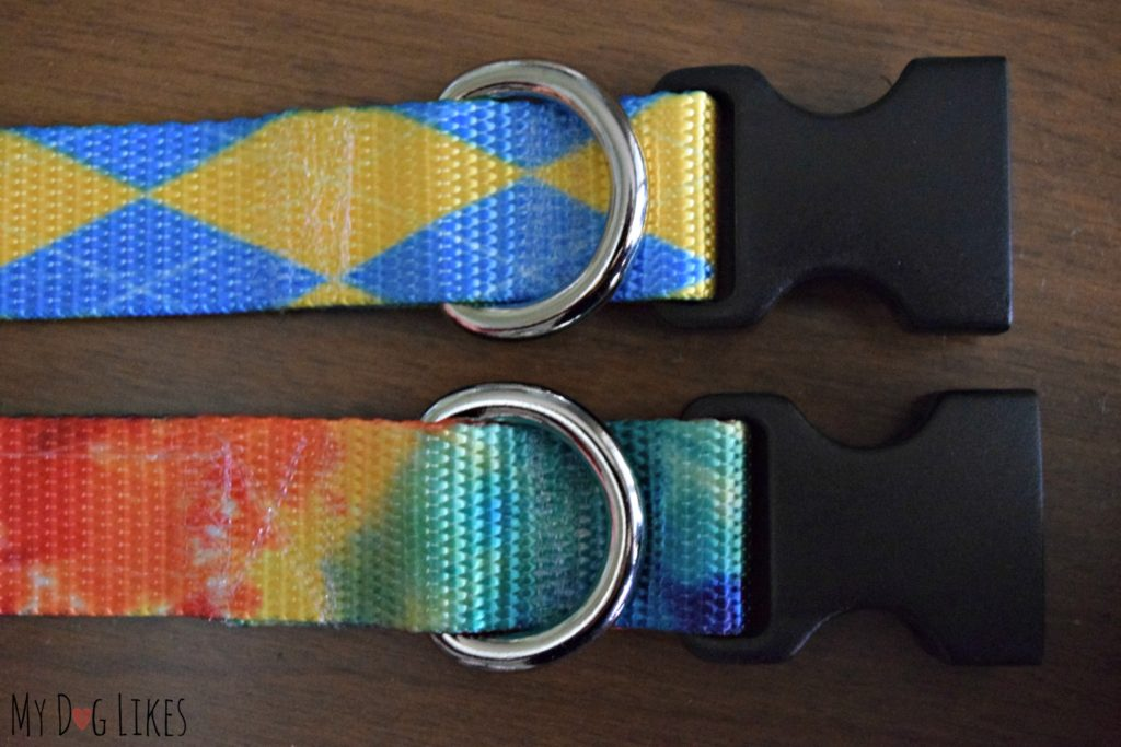 Bright and colorful dog collars