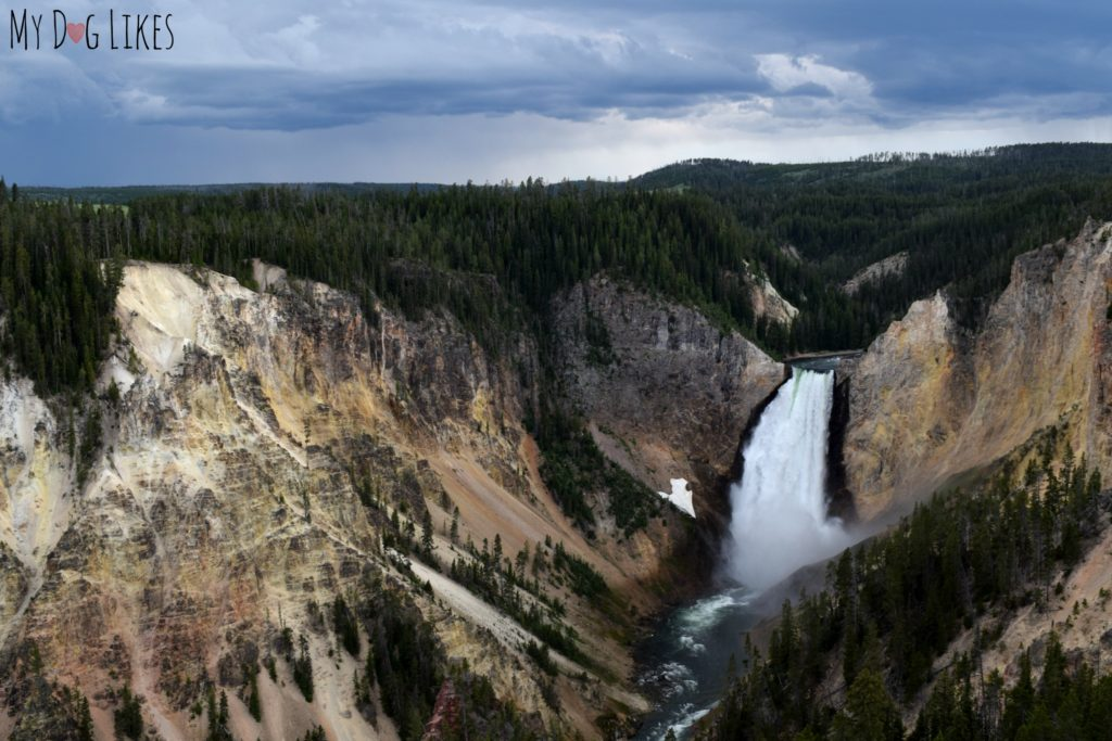 Picturesque Lower Falls in the Grand Canyon of the Yellowstone