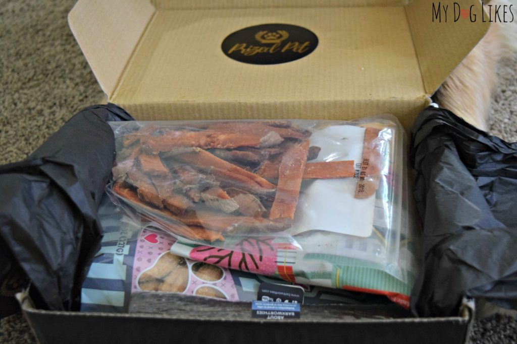 Unboxing the June 2017 treat box from Prized Pet