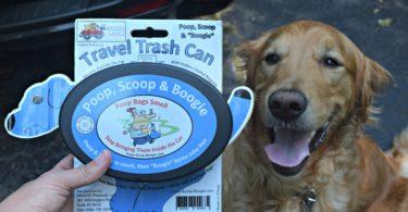 Travel trash can for dog poop