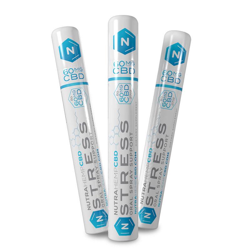 NutraHempCBD Stress Oral Spray Support 3-Pack