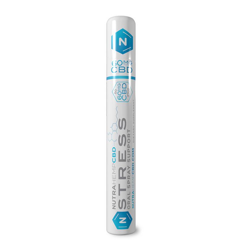 NutraHempCBD Stress Oral Spray Support Single Pack