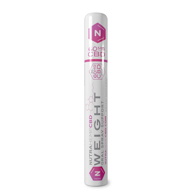 NutraHempCBD Weight Oral Support Spray Single Pack