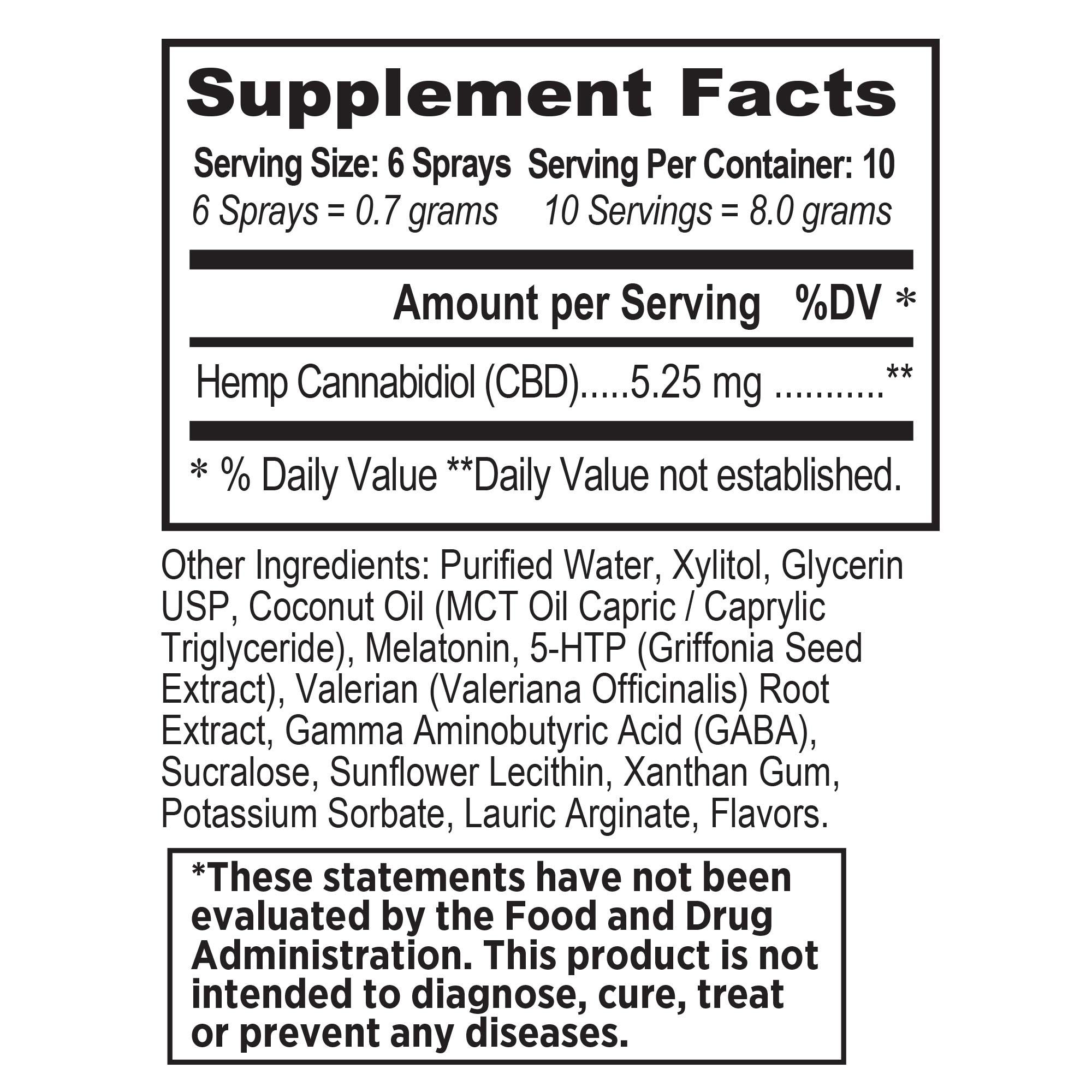 NutraHempCBD Sleep and Stress Oral Spray Support