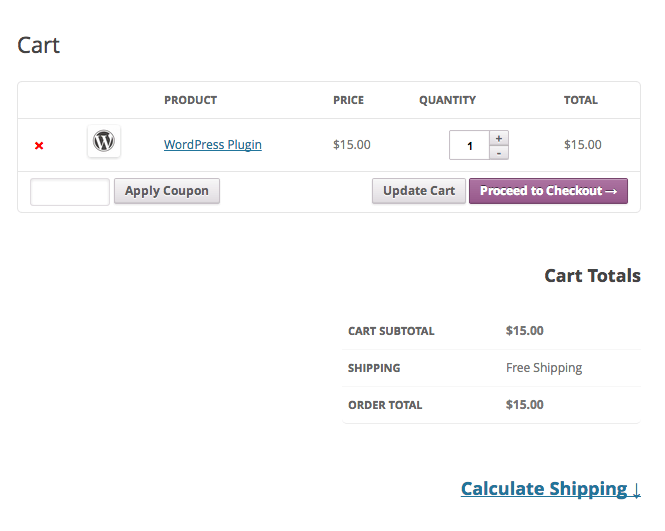 Sell with WordPress WooCommerce Cart Page