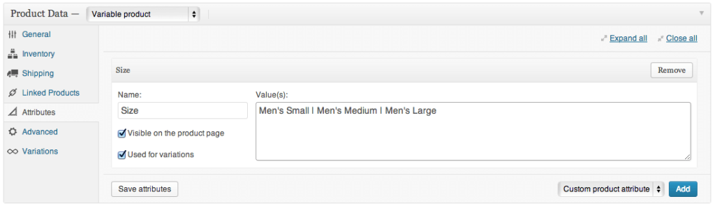 Sell with WordPress WooCommerce Create Variable Product 1