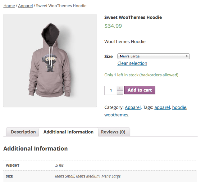 Sell with WordPress WooCommerce Displaying Product Variations