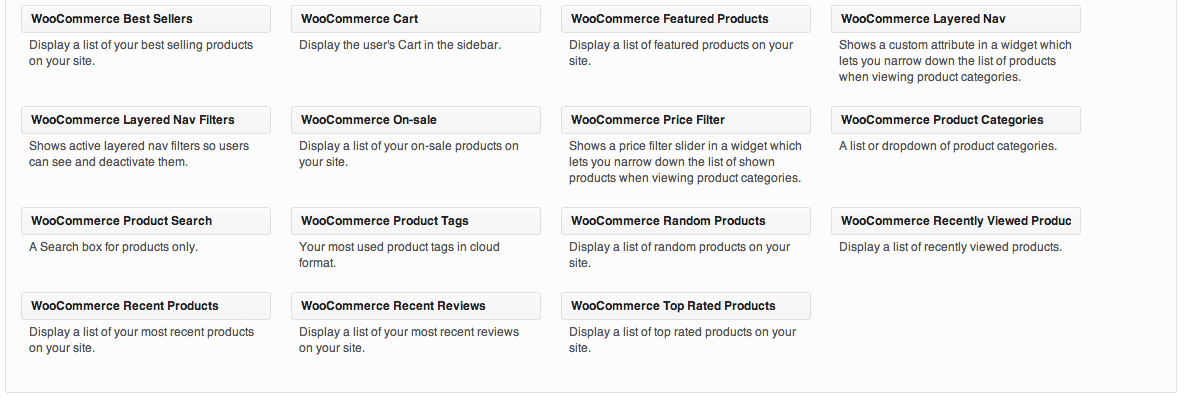Sell with WordPress | WooCommerce Widgets
