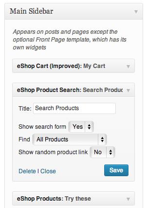 Sell with WordPress | eShop Widgets