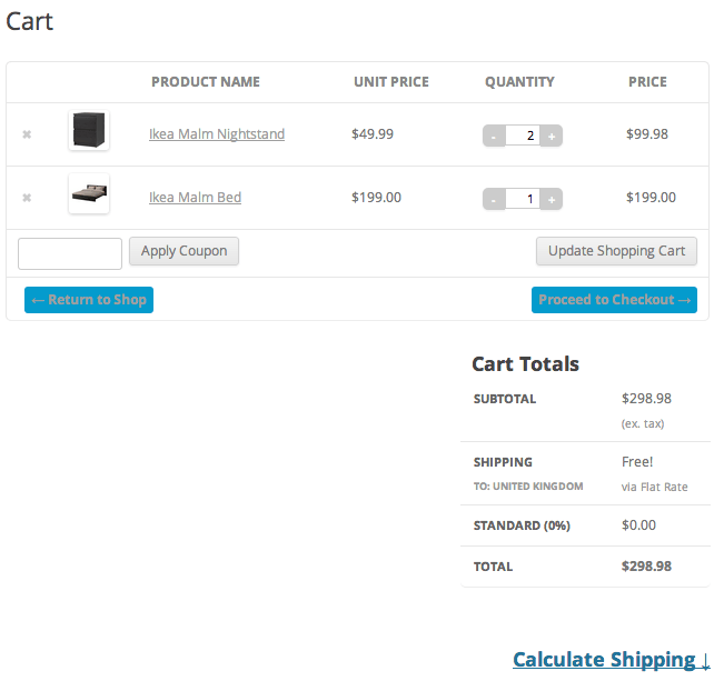 Sell with WordPress | Jigoshop Cart Page