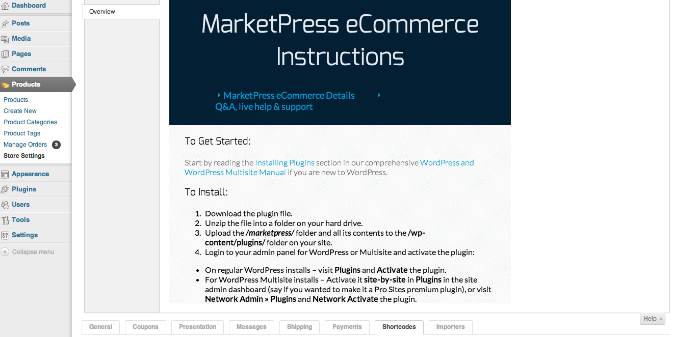 Sell with WordPress | MarketPress Lite Built-in Documentation