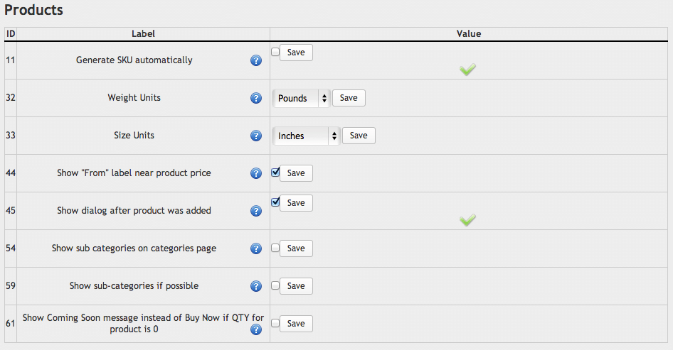 Sell with WordPress | Ready! Cart Product Settings
