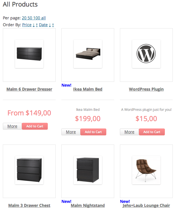 Sell with WordPress | Ready! Cart Shopping Page