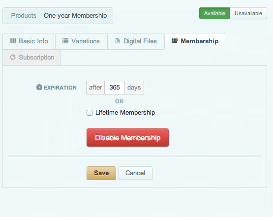 Sell with WordPress | Cart66 Cloud membership product