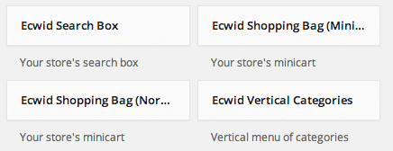 Sell with WP | Ecwid Widgets