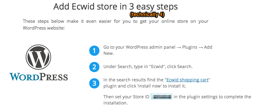 Sell with WP | Ecwid setup for WordPress