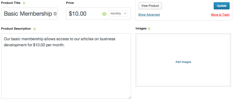 Sell with WordPress | Exchange Membership Products