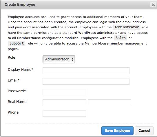 Sell with WP MemberMouse Review Employee Roles