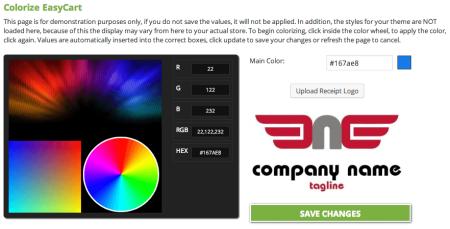 WP EasyCart Review | Color Options