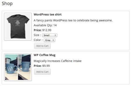 WP eStore Review | Shop Page