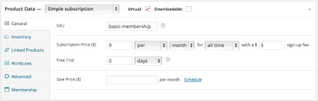PMPro WooCommerce subscription pricing