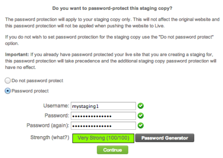 SiteGround Review | Password Protect Staging