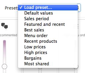 WooCommerce Infinite Product Sorting Preset Sorting Options