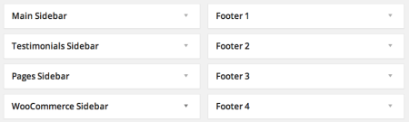 WooCommerce theme Total widget areas