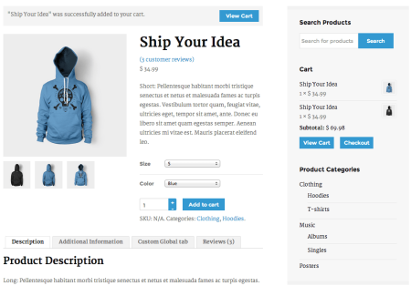 WooCommerce Themes | Obox: Capital product page