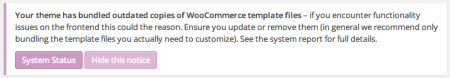 WooCommerce themes | Tesla: Zeon templates notice